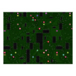 Printed Electronic Circuit Board Poster