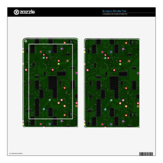 Printed Electronic Circuit Board Skin For Kindle Fire