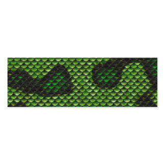 Printed Fake Green Snake Skin Camo Style Design Double-Sided Mini Business Cards (Pack Of 20)