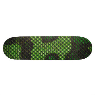 Printed Fake Green Snake Skin Camo Style Design Skateboard Deck