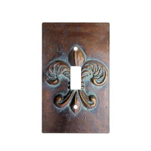 Printed Fleur De Lis Vintage Rustic Light Switch Plates