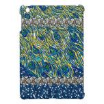 Printed Glam Blue Art Nouveau Peacock Feather iPad Mini Cases