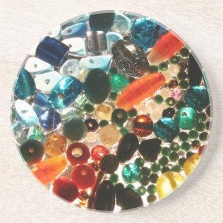 Printed Glass Bead Coaster