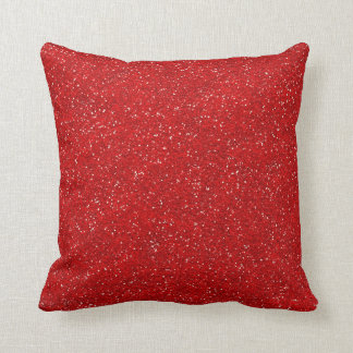 Printed Glitter Jeweled Red Sparkle Stylish Faux Pillow