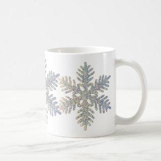 Printed Glittery Snowflake Mugs