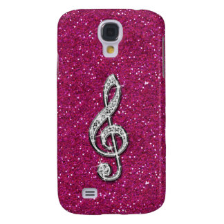 Printed Glitzy Sparkly Diamond Music Note Case