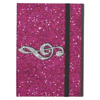 Printed Glitzy Sparkly Diamond Music Note iPad Air Cases
