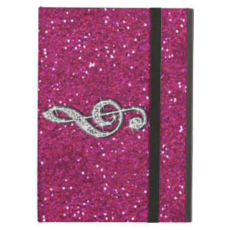 Printed Glitzy Sparkly Diamond Music Note iPad Air Cover