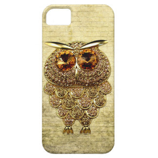 Printed Gold & Amber Owl Jewel iPhone SE/5/5s Case