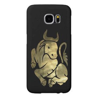 Printed Gold Taurus Bull Samsung Galaxy S6 Case