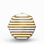printed golden color stripes awards