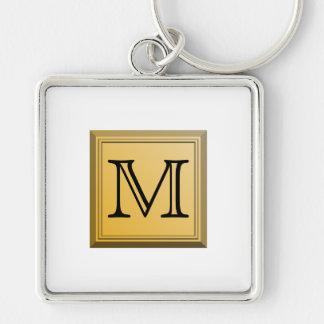 Printed image of a custom monogram design. key chains