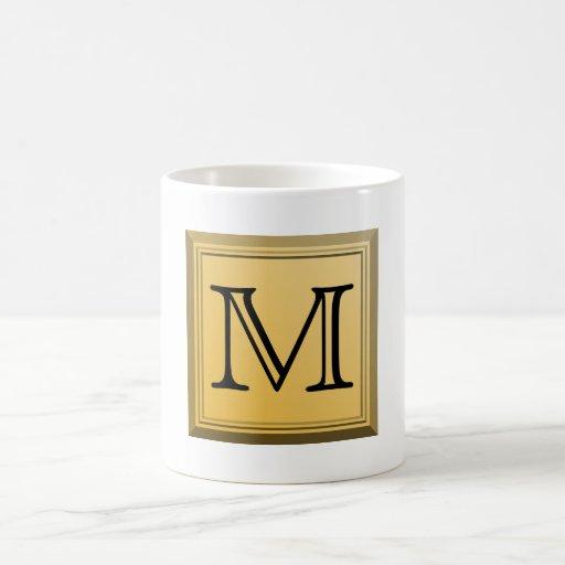 Printed image of a custom monogram design. mug