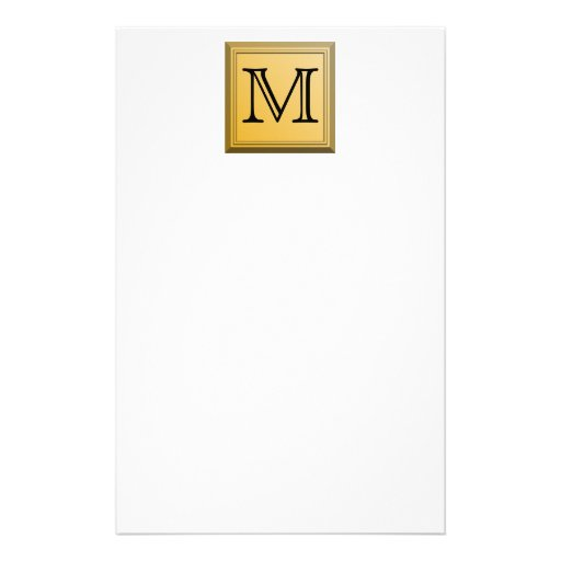 Printed image of a custom monogram design. personalized stationery