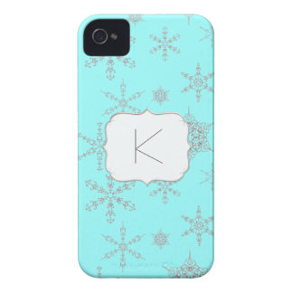 Printed Jewel Snowflakes Jewelry Winter Bling iPhone 4 Case-Mate Cases