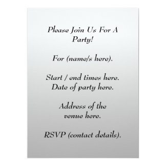 Printed Pattern and Custom Letter. Black and White Personalized Announcement