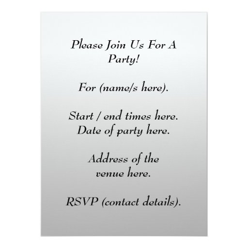 """Printed Pattern and Custom Letter. Black and White 6.5"""" X 8.75"""" Invitation Card"""