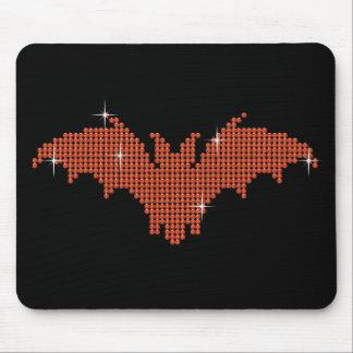 Printed Rhinestone Bat Mouse Pad