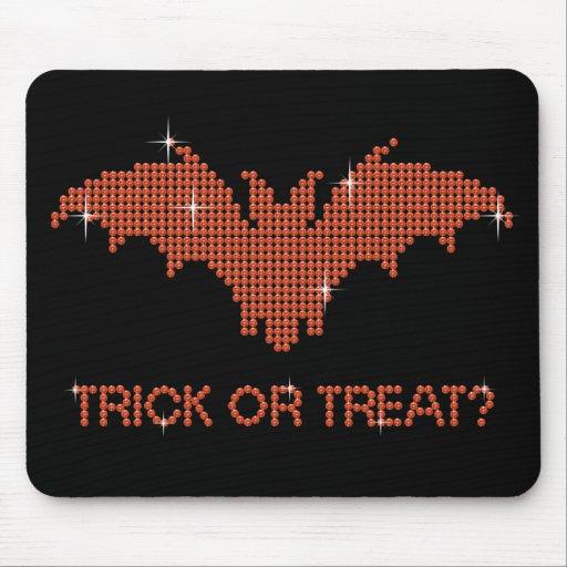 Printed Rhinestone Bat Trick or Treat Mousemats