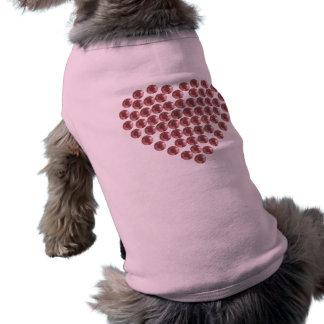 Printed Rhinestone Filled Heart T-Shirt