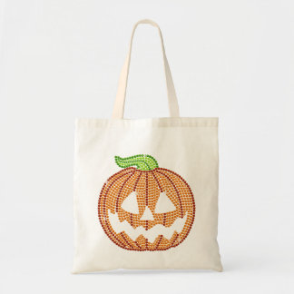 Printed Rhinestone Jackolantern Pumpkin Bags