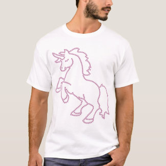 Printed Rhinestone Pink Unicorn T-Shirt