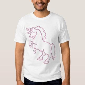 Printed Rhinestone Pink Unicorn Tshirts