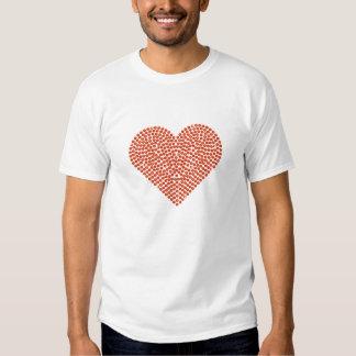 Printed Rhinestone Sparkling Heart Tee Shirt