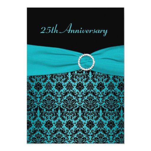 PRINTED RIBBON 25th Anniversary Invitation