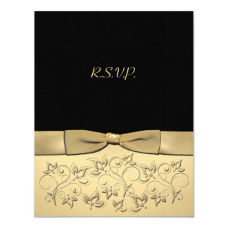 PRINTED RIBBON 50 Years Anniversary RSVP Card