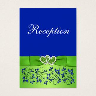 PRINTED RIBBON Blue, Green Floral Enclosure Card