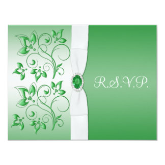 PRINTED RIBBON Emerald Green, White Reply Card