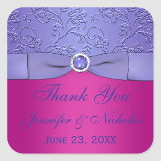 PRINTED RIBBON Fuchsia, Purple Wedding Sticker