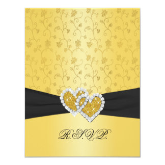 PRINTED RIBBON Joined Hearts II RSVP Card Announcements
