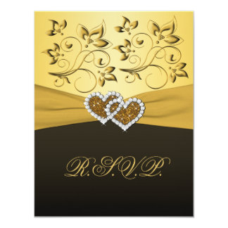 PRINTED RIBBON Joined Hearts RSVP Card Announcements