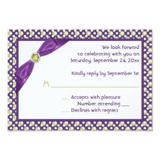 PRINTED RIBBON Purple, Green, White Reply Card