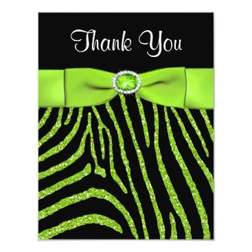 PRINTED RIBBON Zebra Thank You Card Personalized Announcement