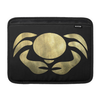 Printed Rustic Gold Cancer Crab MacBook Sleeve
