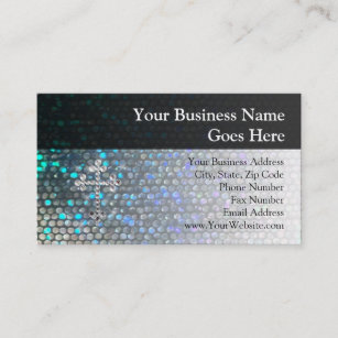 Rhinestone business cards templates zazzle printed silver bling cross business card colourmoves