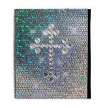 Printed Silver Bling Cross iPad Case