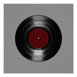 printed vinyl record poster