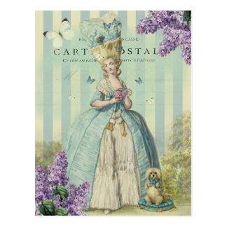 Printemps del au de Lilas con las lilas Tarjeta Postal