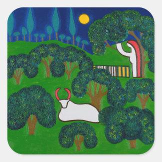 Printemps en Burgundy 2013 Square Sticker