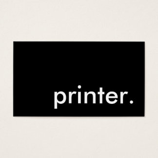 printer. business card