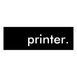 printer. Double-Sided mini business cards (Pack of 20)