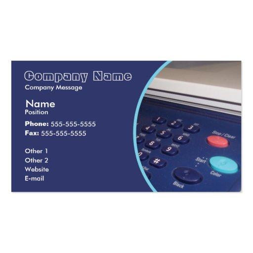 Printer Business Card Templates