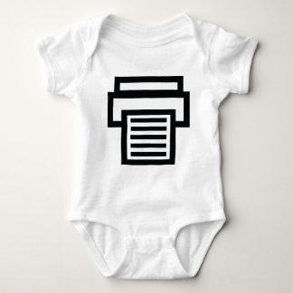 printer icon baby bodysuit