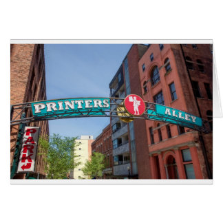 Printer's Alley Greeting Card
