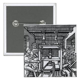 Printing press 2 inch square button