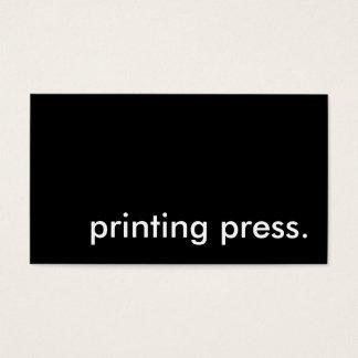 printing press. business card